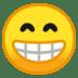 😁 Beaming Face With Smiling Eyes Emoji on Google Platform