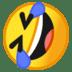 🤣 Tumbado en el suelo por la risa Emoji en plataforma Google