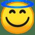 😇 smiling face with halo Emoji on Google Platform
