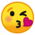 😘 face blowing a kiss Emoji on Google Platform