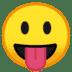 😛 face with tongue Emoji on Google Platform