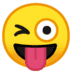 😜 winking face with tongue Emoji on Google Platform