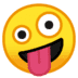 🤪 zany face Emoji on Google Platform