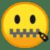 🤐 zipper-mouth face Emoji on Google Platform