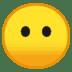 😶 face without mouth Emoji on Google Platform