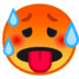 🥵 hot face Emoji on Google Platform