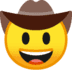 🤠 cowboy hat face Emoji on Google Platform