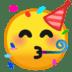 🥳 partying face Emoji on Google Platform