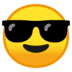 😎 Smiling Face With Sunglasses Emoji on Google Platform