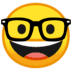 🤓 Nerd Face Emoji on Google Platform