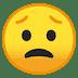 😟 Visage Inquiet Emoji sur la plateforme Google