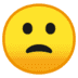 🙁 slightly frowning face Emoji on Google Platform