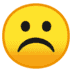 ☹️ frowning face Emoji on Google Platform