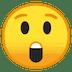 😲 Cara Atônita Emoji na Plataforma Google