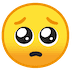 🥺 Pleading Face Emoji on Google Platform