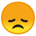 😞 disappointed face Emoji on Google Platform