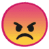 😠 angry face Emoji on Google Platform