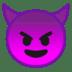 😈 Lächelndes Gesicht mit Hörnern Emoji auf Google-Plattform