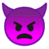 👿 Angry Face With Horns Emoji on Google Platform