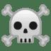 ☠️ skull and crossbones Emoji on Google Platform