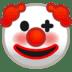 🤡 clown face Emoji on Google Platform
