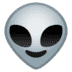 👽 alien Emoji on Google Platform
