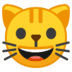 😺 grinning cat Emoji on Google Platform
