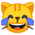 😹 Cat With Tears of Joy Emoji on Google Platform