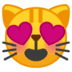 😻 smiling cat with heart-eyes Emoji on Google Platform