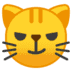 😼 cat with wry smile Emoji on Google Platform