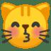 😽 kissing cat Emoji on Google Platform
