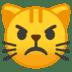 😾 pouting cat Emoji on Google Platform