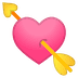 💘 heart with arrow Emoji on Google Platform