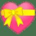💝 heart with ribbon Emoji on Google Platform