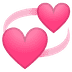 💞 revolving hearts Emoji on Google Platform