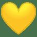 💛 Geel Hart Emoji op Google Platform