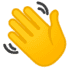 👋 waving hand Emoji on Google Platform