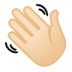 👋🏻 waving hand: light skin tone Emoji on Google Platform