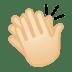 👏🏻 clapping hands: light skin tone Emoji on Google Platform
