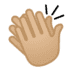 👏🏼 clapping hands: medium-light skin tone Emoji on Google Platform