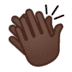 👏🏿 clapping hands: dark skin tone Emoji on Google Platform