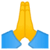 🙏 folded hands Emoji on Google Platform