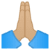 🙏🏼 Medium-Light Skin Tone Folded Hands Emoji on Google Platform