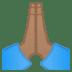 🙏🏽 folded hands: medium skin tone Emoji on Google Platform