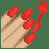 💅🏼 nail polish: medium-light skin tone Emoji on Google Platform