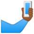 🤳🏾 selfie: medium-dark skin tone Emoji on Google Platform