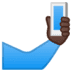 🤳🏿 selfie: dark skin tone Emoji on Google Platform