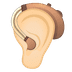 🦻🏻 ear with hearing aid: light skin tone Emoji on Google Platform
