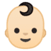 👶🏻 baby: light skin tone Emoji on Google Platform