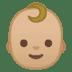 👶🏼 baby: medium-light skin tone Emoji on Google Platform